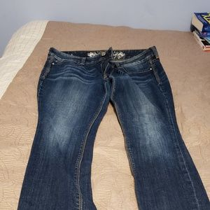 Express Bootcut Jeans, perfect condition, 10 Short